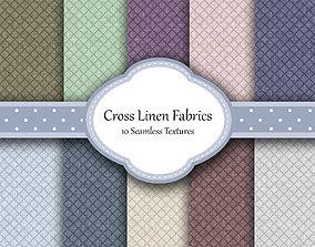 3D Cross Linen Seamless Textures Set