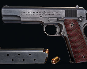 Colt M1911 3D model game-ready