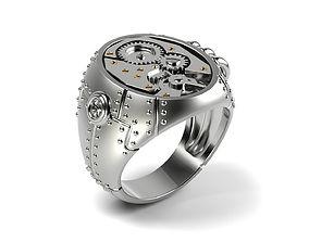 3D printable model Steampunk Signet Ring