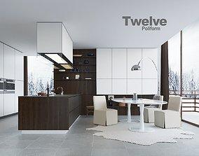 Poliform Varenna Twelve kitchent 3D model