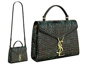 YSL Saint Laurent Cassandra Mini Top Bag Snake 3D model