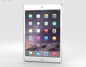 Apple iPad Mini 3 Silver 3D