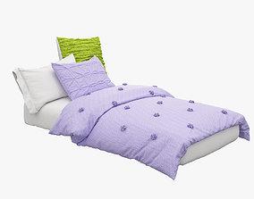Girls Single Bed 3D model