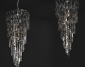 Crystal Chandelier Il Paralume Marina Art 1701 KR 3D model