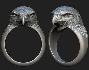 Hawk ring 3D printable model