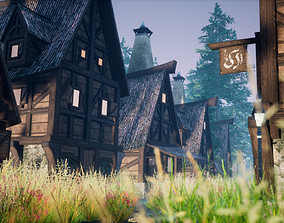 Medieval Town Game Environment Kit by mkaplunow 3D asset