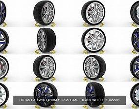 ORTAS CAR WHEEL RIM 121-122 GAME READY WHEEL 3D