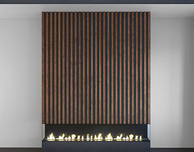 3D model Wall Panel Set 125 Fireplace
