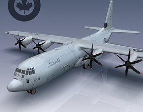 3D asset Canadian Air Force CC-130J Super Hercules