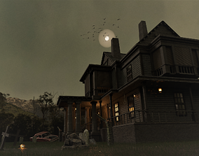 VR / AR ready Haunted house 3d model