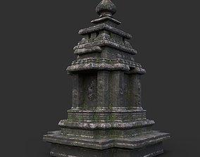 3D asset Ruin Ancient Temple - Khmer Architecture B 08