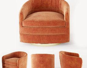 3D model Milo Baughman Swivel Tub Chairs for Thayer Coggin
