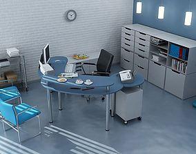 Modern Office Room 3D model