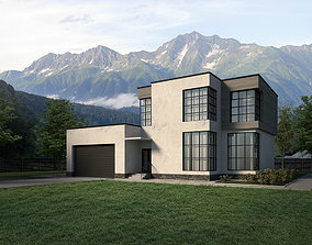 House with garage 3D