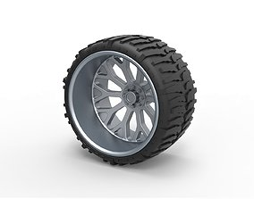3D printable model Offroad wheel for lifted trucks