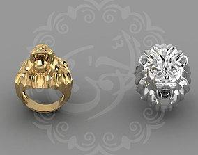 3D printable model 3D model Lion Head Ring