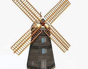 3D asset Medieval Windmill