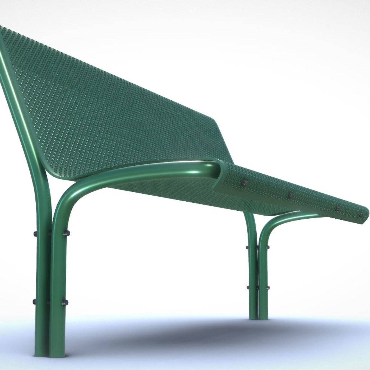 Park Bench Number 3 (High- and Low-Poly Version)