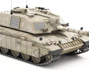3D model Challenger II British MBT
