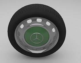 3D Mercedes W 123 Wheel