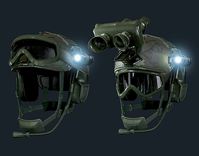 Military Helmet Game Ready 3D asset