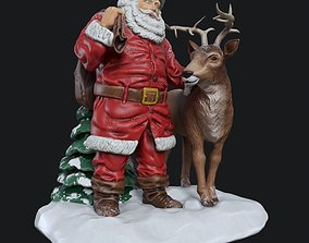 Santa Claus ceramic statuette 3D
