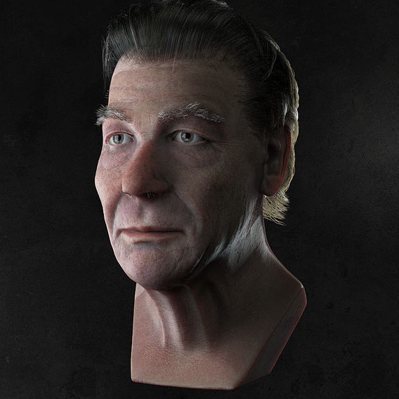 Old Man Bust