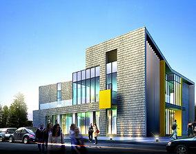 3D model Shopping Mall Building Design