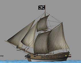 3D Battle sloop