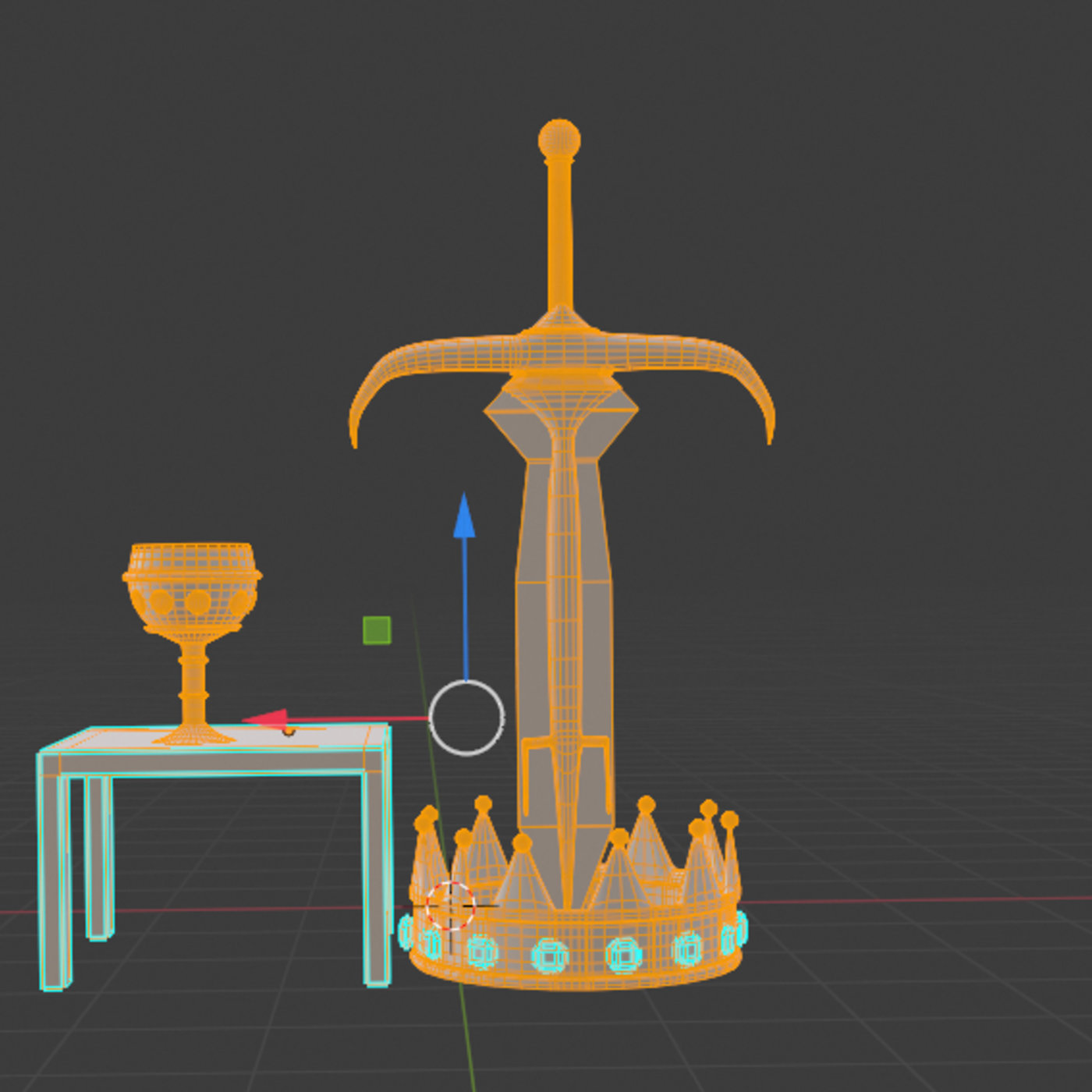 Sword, Crown, and Cup