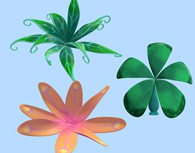 3D asset Plants Cartoon