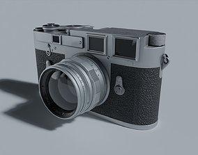 3D asset Camera Leica M3 Retro Silver