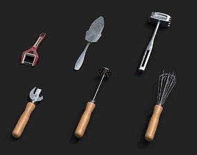Kitchen Tools 3D model VR / AR ready houseware