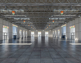 3D model Exhibition Hall Warehouse 3