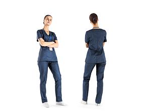 3D model Surgical nurse 41