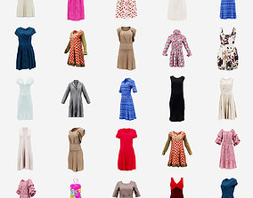 20 Dresses 3D model