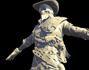 3D model old Hellish Sheriff High Poly