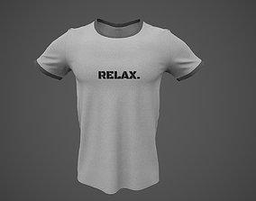 3D model T-Shirt Male PBR Game-ready
