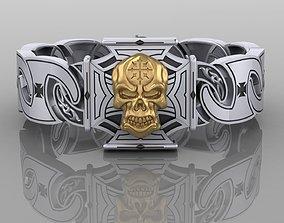 3D printable model Bracelet a Skull creative