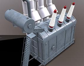 3D model realtime Power Transformer - Grey - PBR