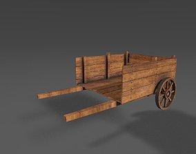 fantasy Medieval cart 3D model