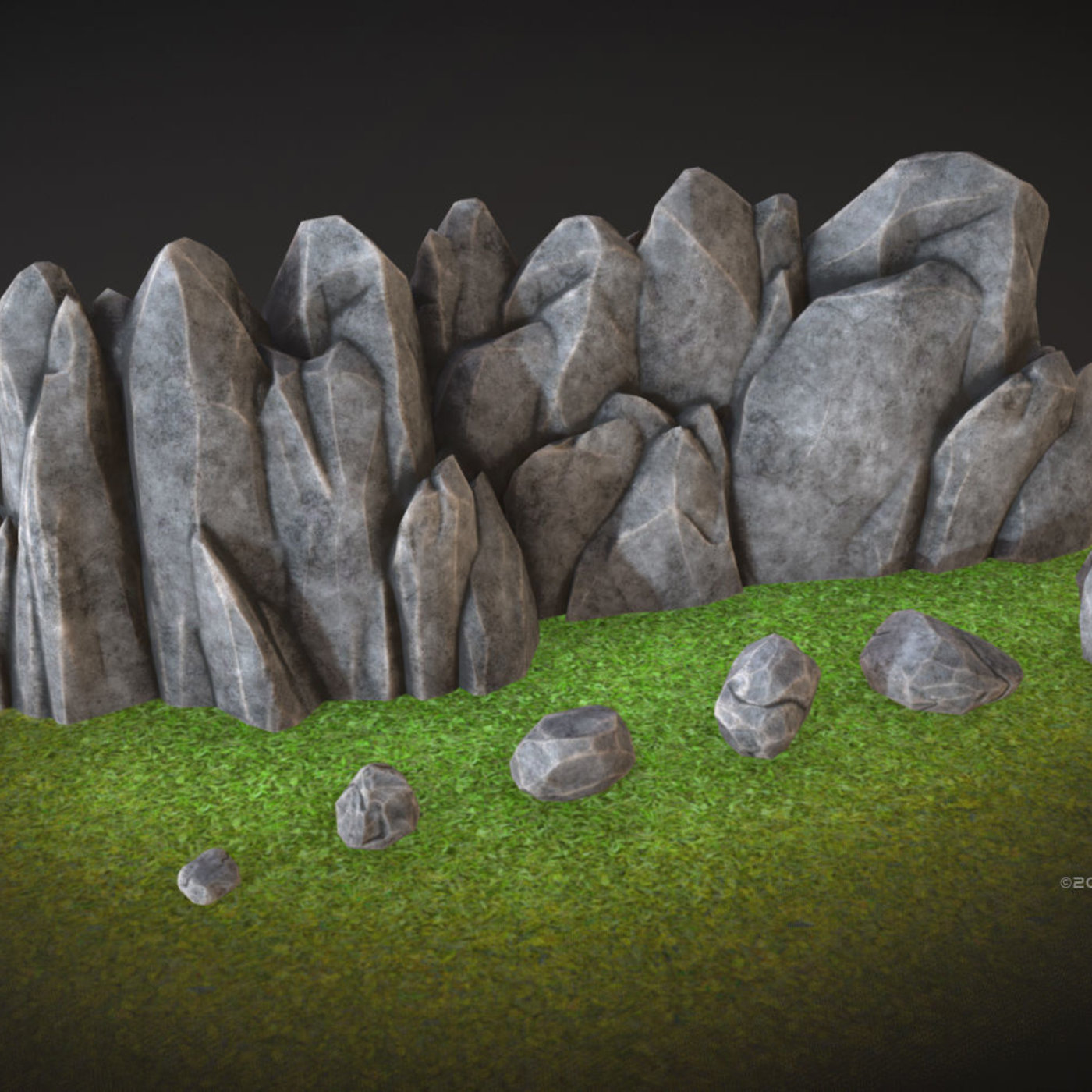 Stylized rock formations