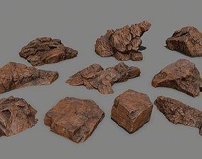 3D asset desert rock 1