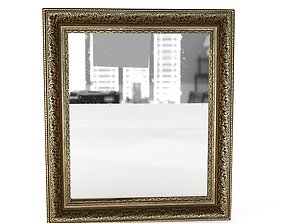 3D model Antique Frame Mirror 5