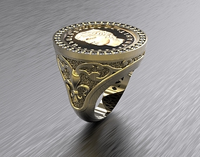 COIN RING with Diamonsd 3D printable model