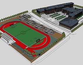 Region-City-School 77 3D model