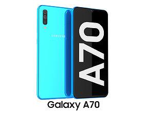 3D Samsung Galaxy A70 Blue samsung
