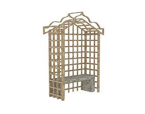 Garden arbour lattice 3D model