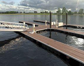 3D Marina - Boat Slips - Floating Dock - Deluxe