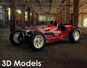 Vintage Sprint Car 3D Model by Media Pixel